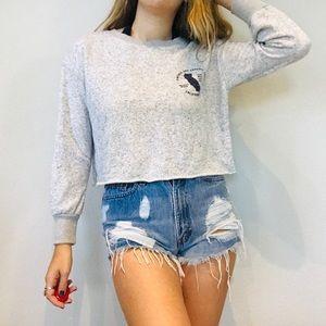 Brandy Melville gray california cropped sweatshirt
